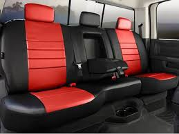 fia leather lite black red 40 60 seat covers