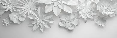 Paper Flower Background White Paper Cut Flowers Background White Paper Flowers Background
