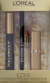 amazon l oreal paris icons makeup kit with voluminous maa infallible liner a beauty