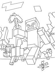 Minecraft Coloring Pages For Kids Coloring Books As Well As Free
