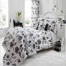 high summer duvet cover set chiltern mills stephanie black white grey erfly super king