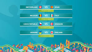 Jun 17, 2021 · led by romelu lukaku with three goals, the belgians will take on the reigning uefa euro champs portugal in their round of 16 game. Uefa Euro 2020 Quarter Final Ties Confirmed Uefa Euro 2020 Uefa Com