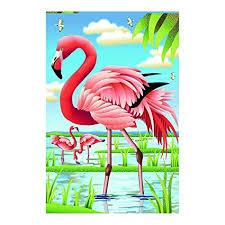 flamingo garden flags. Contemporary Garden Flamingo Garden Flag Beautiful Lakeside Scenery 100 Polyester And Fade  Resistant Outdoors Flags 125 X In M