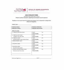 Free Time Off Request Form Template Sick Leave Policy
