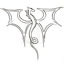 Easy Dragon Drawing Cool Photos Drawings Coloring Page Art Gallery