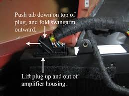 how to install amp to stock head unit you can tap the following wires for full range audio they ll also be in the factory amp harness blue w red stripe fr and brown w orange stripe fr