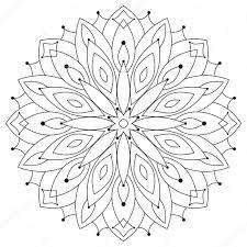 Disegni Rotondi Da Colorare Mandala Rotondo Etnico Orientale