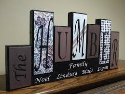 home decor living room decor home living family block letters home decor wood block mantel personalized family name