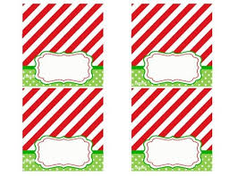 christmas placecard templates christmas place card templates free template business intended for