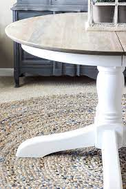 weathered grey dining table makeover