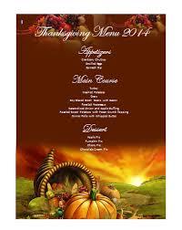 Thanksgiving Menu Template Microsoft Word Templates