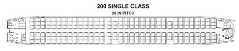 737 Max 200 Seating Chart Ryanairs First 737 Max 200 With A Truly Hellacious Seat Map