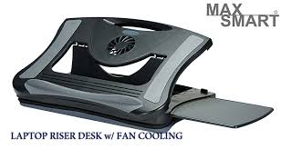 this ergonomic lapboard fits 12 17 tablet notebook ipad and laptop built in cooling fan helps displace your laptop heat bottom removable air mesh
