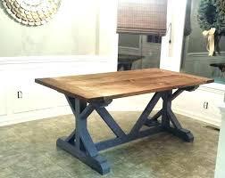 trestle table diy dining room table plans farm table 5 farmhouse table projects extendable dining table