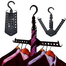 Magic Multi Dual Clothes Hanger Folding Hook Coat Rack Wardrobe Organizer UK
