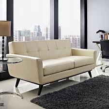 empire modern beige leather loveseat  eurway furniture