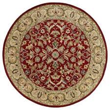 mystic william red 9 ft x 9 ft round area rug