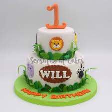 1st Birthday Animal Theme For Boy Birthday Cake Singapore