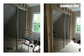 how to install a pocket door frame