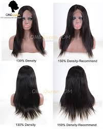 High Quality Malaysian Virgin Hair Natural Color Silky Straight Silk Base Lace Wigs Msw01