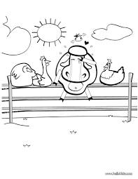 Cow In Love Coloring Pages Hellokidscom