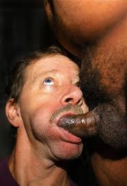 White man sucking black dick