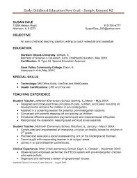 Resume Template Free Examples Teacher Resumes Special Education