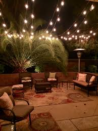 Outside Patio Lights Led Outdoor Patio Area With Three Strings Of Lights From Costco