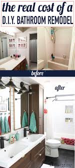 Diy Bathroom Reno 17 Best Ideas About Bathroom Renovation Cost On Pinterest Cost