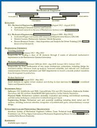 Engineering Student Resume Mesmerizing Objective For Resume Engineering Mechanical Engineering Student