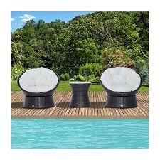captivating egg chair bistro set with outsunny rattan garden furniture set 3 pcs bistro set 2