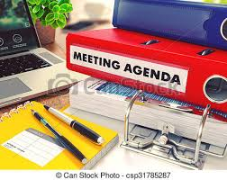 office agenda meeting agenda on red office folder toned image meeting agenda