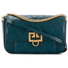 givenchy mini pocket quilted bag in prussian blue