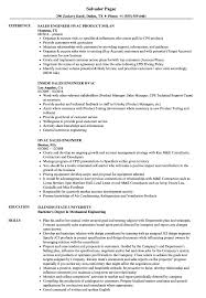 Hvac Job Resume Examples Hvac Sales Engineer Resume Samples Velvet Jobs 22