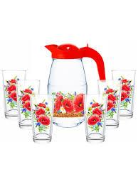 """<b>Кувшин</b> """"Маковое поле"""" со стаканами, 7пр. <b>Декостек</b> 7589415 в ..."""