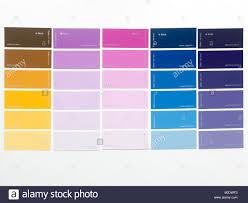Paint Colour Charts Stock Photo 17515767 Alamy