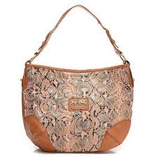 Coach Madison Embossed Logo Medium Tan Hobo EIL Outlet Clearance