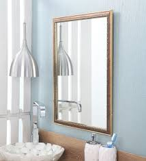 fibre framed gold designer bathroom mirror l 18 w 1 h