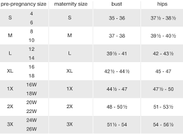 Duo Maternity Size Chart Swap Com Your Affordable Thrift