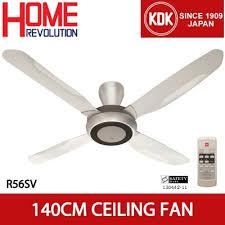ceiling fan kdk r56sv 140cm super deluxe ceiling fan with 1 f