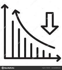 Down Arrow Chart Bar Chart Arrow Symbolising Financial Loss Business Stock