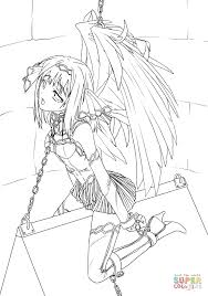 Small Picture Anime Slave Angel coloring page Free Printable Coloring Pages