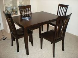 Dark Wood Dining Table Room And Chairs Preloved Gumtree With White