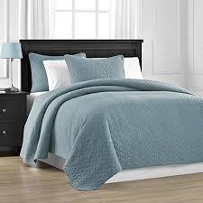 Lightweight BEDSPREADS: Amazon.com & Prewashed Durable Comfy Bedding Jigsaw Quilted 3-piece Bedspread Coverlet  Set (Full/Queen, Spa Blue) Adamdwight.com