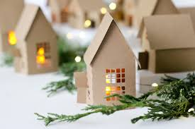 christmas house template christmas advent paper houses