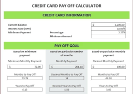 How To Payoff Credit Card Debt Calculator Credit Card Payment Calculator Excel Payment Calculator Excel