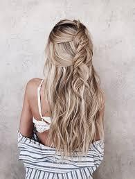 Hair Style Pinterest loose blond braid half up hairstyle beach hair fleurpinterest 8341 by wearticles.com