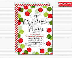 Printable Holiday Party Invitations Christmas Party Invitation Printable Holiday Celebration Digital