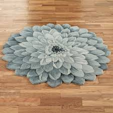 gray cotton flower shaped round bathroom rugs awesome round bathroom rugs ideas