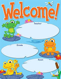 Carson Dellosa Funky Frogs Welcome Chart 114192
